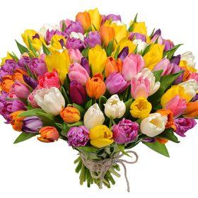 "Букет ""Самоцветы"" (101 тюльпан) фото"