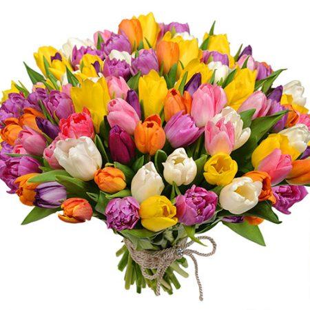 "Букет ""Самоцветы"" (101 тюльпан)"